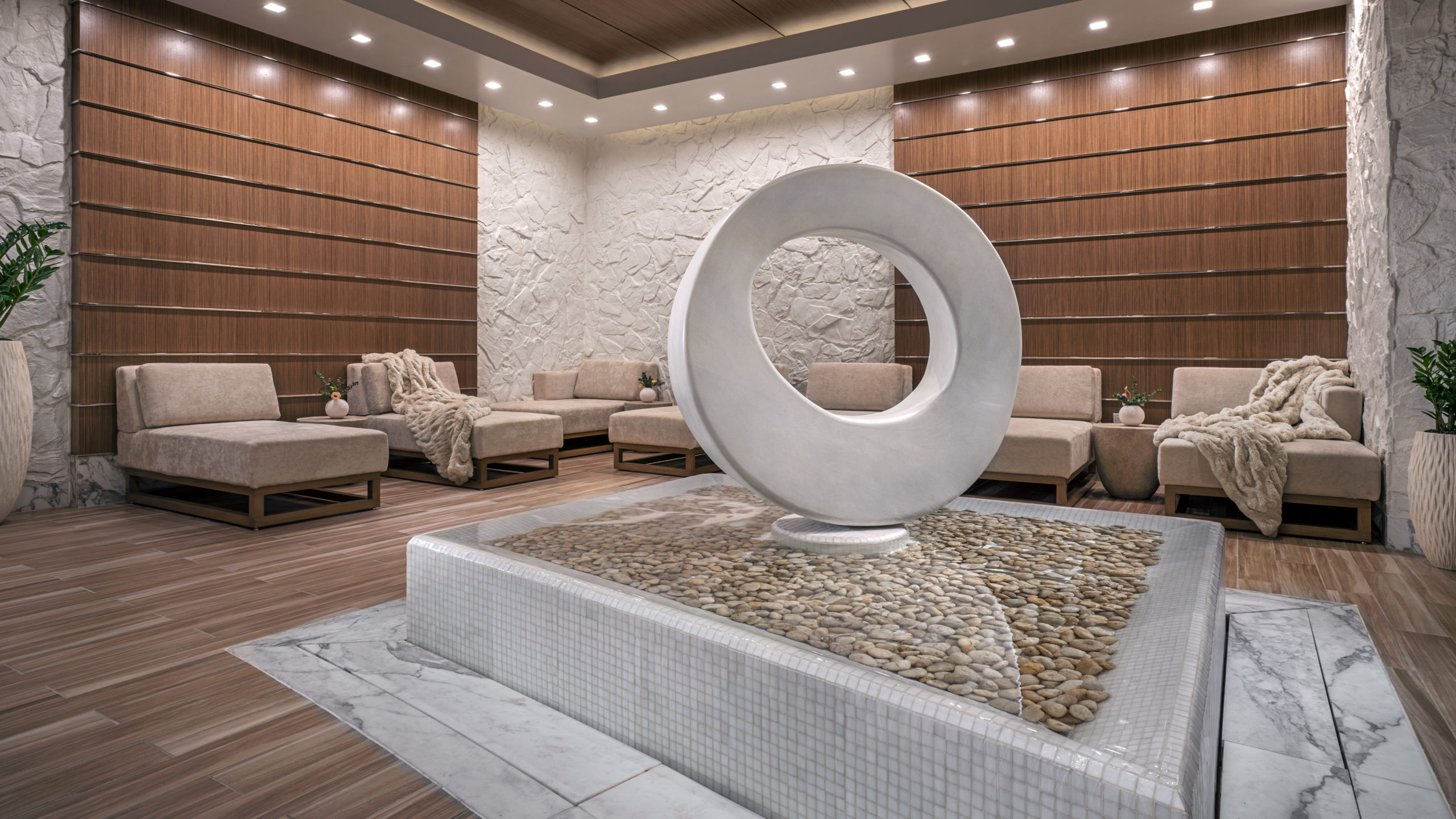 an image of the lobby at the spa